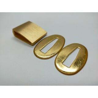 はばき 切羽 金色セット 銅製 日本刀装具(武具)