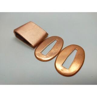 はばき 切羽 銅本色セット 厚目 銅製 日本刀装具(武具)