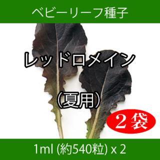 ベビーリーフ種子 B-07 レッドロメイン(夏用) 1ml 約540粒 x 2袋(野菜)