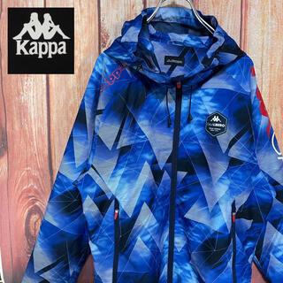 カッパ(Kappa)の薄手【kappa】ロゴ入り 総柄 ナイロンパーカー ジャケット(ナイロンジャケット)