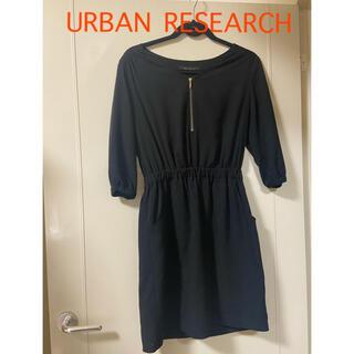 URBAN RESEARCH - アーバンリサーチ ブラック ワンピース