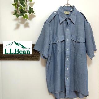 エルエルビーン(L.L.Bean)の【L.L.Bean】シャツ 半袖 ビックシルエット デニム風 ゆったり(シャツ)