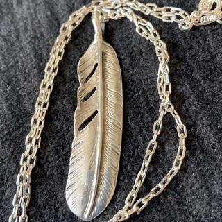 美品 フェザーネックレス インディアンジュエリー silver 925刻印