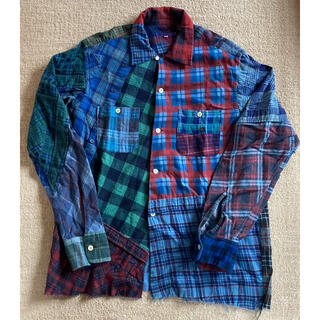 Needles - リビルドバイニードルス 再構築 チェックネルシャツ M