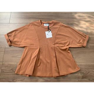 ブラックバイマウジー(BLACK by moussy)のBLACK BY MOUSSY  新品 タグ付 へプラムトップス 半袖 70%(カットソー(半袖/袖なし))