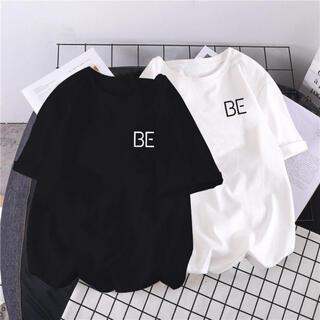 韓国ファッション BE Tシャツ❣️ ホワイト