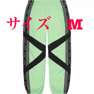Supreme - M Mint Supreme Cross Paneled Track Pant