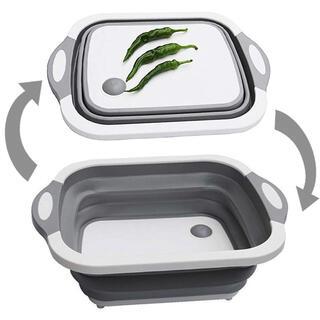 人気の洗い桶 折りたたみまな板 収納便利 洗いかご 水切りバケツ 2個セット(その他)