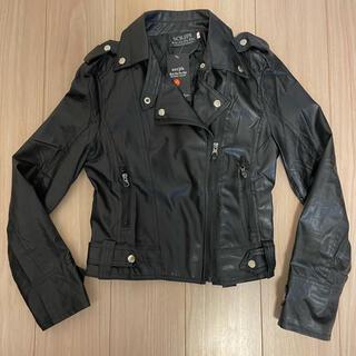 ライダースジャケット 黒色