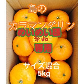 めいめい様専用 みかん 春の高級柑橘 島のカラマンダリン 贈答用5kg(フルーツ)