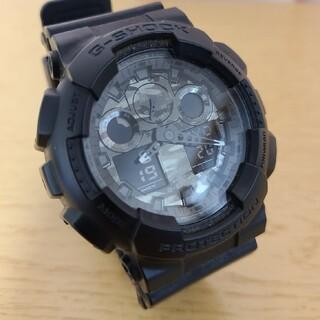 ジーショック(G-SHOCK)のCASIO Gショック GA-100CF カモフラージュ 迷彩 ブラック(腕時計(アナログ))