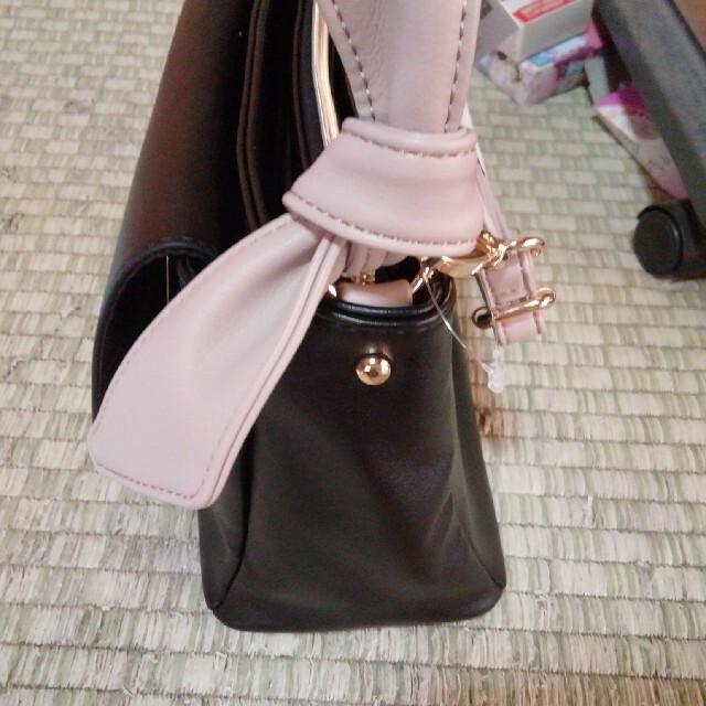 しまむら(シマムラ)の新品、しまむらXmmuコラボ、結び目ハンドル、金具付き2wayシヨルダ─バッグ レディースのバッグ(ショルダーバッグ)の商品写真