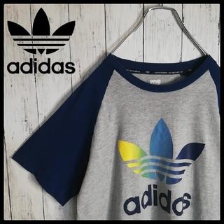 アディダス(adidas)の【90s 古着】アディダス センターロゴ ラグラン クルーネックTシャツ(Tシャツ/カットソー(半袖/袖なし))