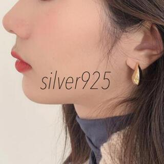 シンプル 【silver925ポスト】ゴールドドロップピアス(ピアス)