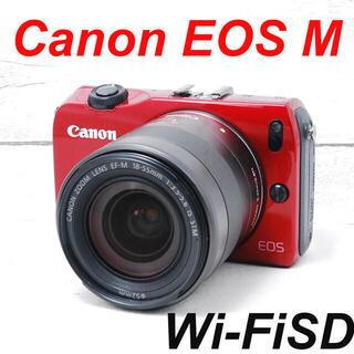 Canon - ❤️希少レッドカラー❤️スマホ転送❤️Canon EOS M