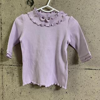 エニィファム(anyFAM)のエニィファムキッズ 衿フリル 七分袖 Tシャツ(Tシャツ/カットソー)