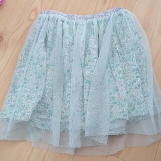 H&M - H&M 120cm スカート キレイなグリーン