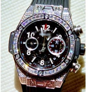 HUBLOT - 腕時計 SSダイヤモンド 新品