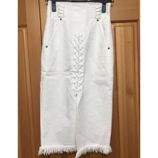 mame - mame ホワイトデニムスカート