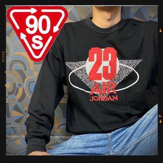 ナイキ(NIKE)の激レア 90s ナイキ スウェット エアジョーダン 黒 ブラック 23 刺繍(スウェット)