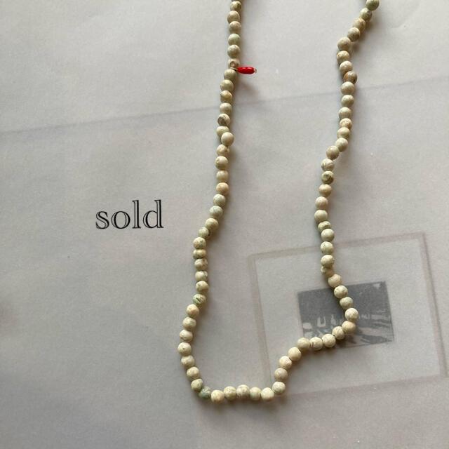 nude ロングネックレス ハンドメイドのアクセサリー(ネックレス)の商品写真