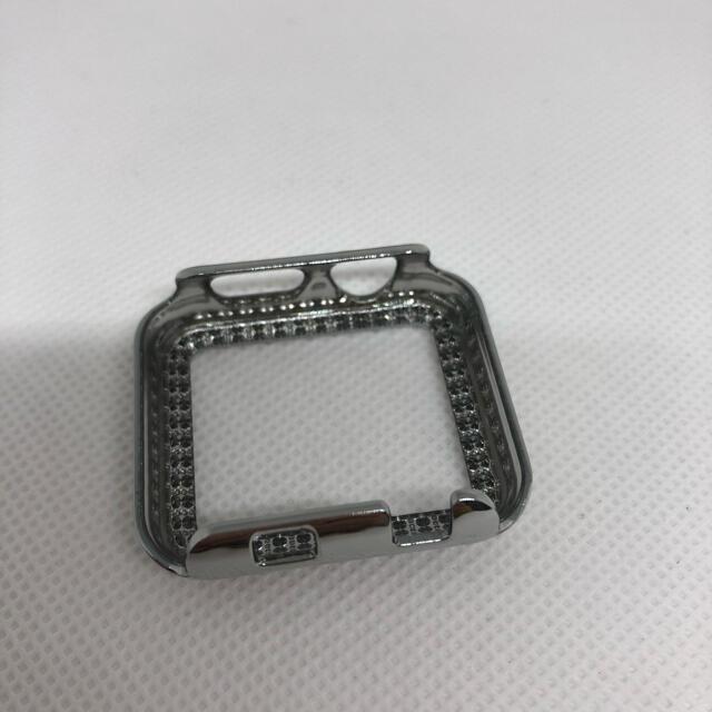 Apple Watch 38mm シルバー キラキラフレーム カバー スマホ/家電/カメラのスマホアクセサリー(モバイルケース/カバー)の商品写真