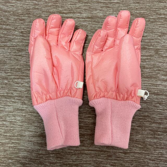 未使用/スノーグローブ/手袋/撥水防水/ピンク キッズ/ベビー/マタニティのこども用ファッション小物(手袋)の商品写真