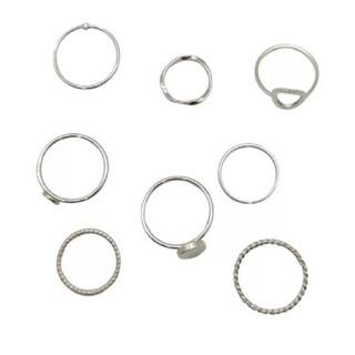 ケービーエフ(KBF)のシルバーリング 指輪 8点セット(リング(指輪))