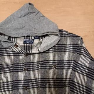 エルエルビーン(L.L.Bean)の90s ヴィンテージ コットンネル フード付き ネルシャツ チェック(シャツ)