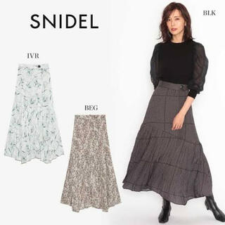 snidel - 2020年 スナイデル プリントプリーツスカート