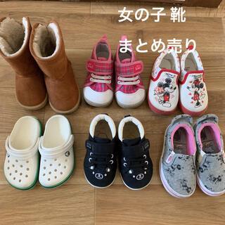 ニシマツヤ(西松屋)の女の子 靴 6足まとめ売り(スニーカー)