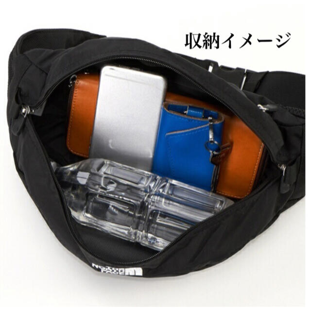 THE NORTH FACE(ザノースフェイス)のブラック★ノースフェイス ★スウィープ ウエストポーチ ウエストバッグ メンズのバッグ(ボディーバッグ)の商品写真