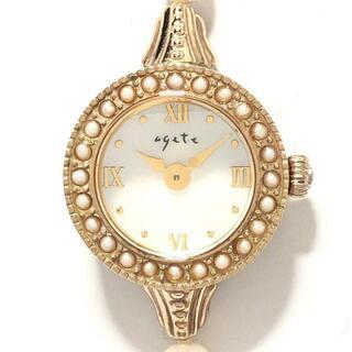 アガット(agete)のアガット - レディース シェル文字盤(腕時計)