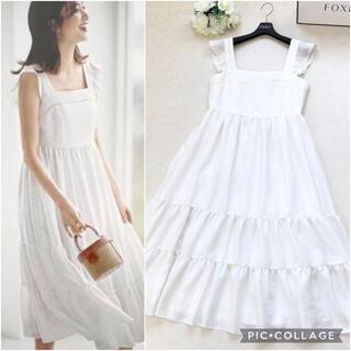 【美品】2019年 FOXEY フォクシー 掲載 ドレス ホワイト ワンピース