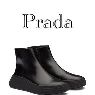 プラダ(PRADA)のPrada 20aw ウェッジソールブーツ(ブーツ)