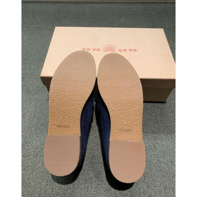 cavacava(サヴァサヴァ)のca va ca va バックスキン ローファー ネイビー レディースの靴/シューズ(ローファー/革靴)の商品写真