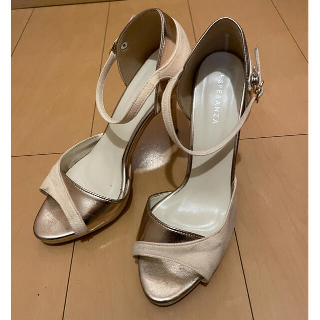ESPERANZA(エスペランサ)のエスペランサ ピンヒール サンダル S ベージュ レディースの靴/シューズ(ミュール)の商品写真