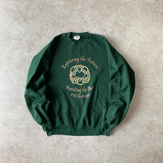 Hanes - JERZEES print sweat green スウェット プリント