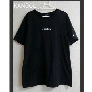KANGOL - ♠ 美品 KANGOL   腕刺しゅうロゴTシャツ ブラック zip FIVE