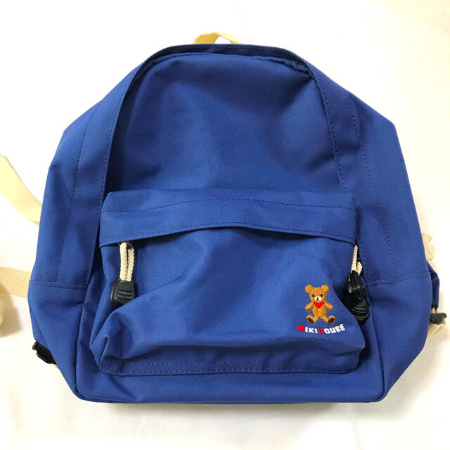 mikihouse(ミキハウス)のミキハウス リュックサック ブルー 青  キッズ/ベビー/マタニティのこども用バッグ(リュックサック)の商品写真