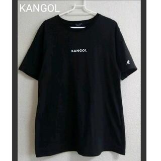 KANGOL - ♡ 美品 KANGOL   腕刺しゅうロゴTシャツ ブラック zip FIVE