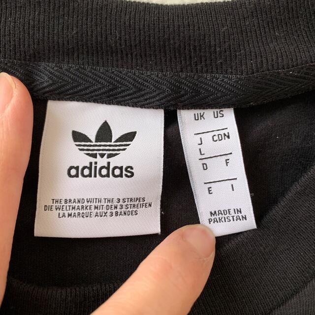 adidas(アディダス)のadidas 黒Tシャツ レディースのトップス(Tシャツ(半袖/袖なし))の商品写真