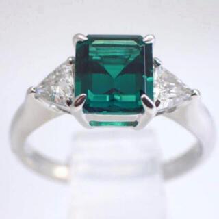 キョウセラ(京セラ)の京セラCrescent Vert(クレサンベール) Pt950 エメラルドリング(リング(指輪))