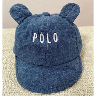 POLO RALPH LAUREN - Polo 耳付きベビー デニム キャップ 帽子 44㎝