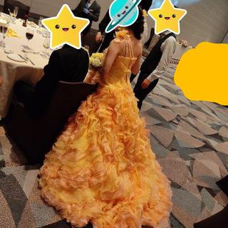【送料込み】ウェディングドレス オレンジ(ウェディングドレス)