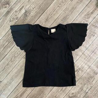 petit main - プティマイン  Tシャツ 黒 90