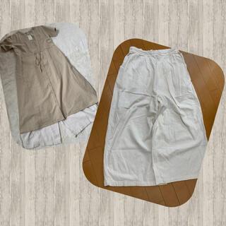 SM2 - sm2 春夏に リネンレーヨン さらっとゆるだぼホワイトパンツ