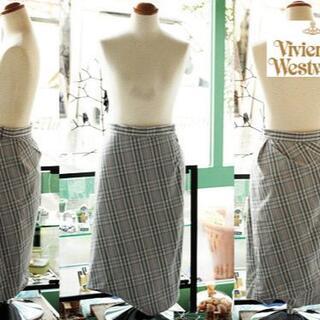 ヴィヴィアンウエストウッド(Vivienne Westwood)の38サイズ バルーン スカート 未使用 B品 タータンチェック ヴィヴィアン(ロングスカート)