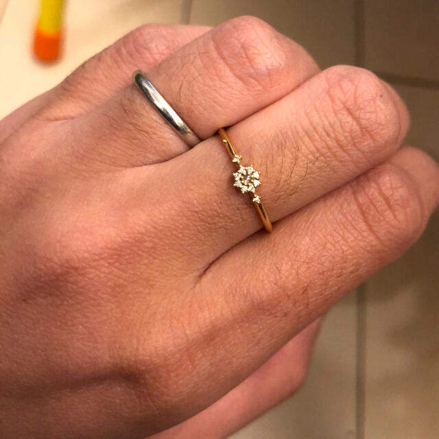 agete(アガット)のagete k18リング 美品 レディースのアクセサリー(リング(指輪))の商品写真