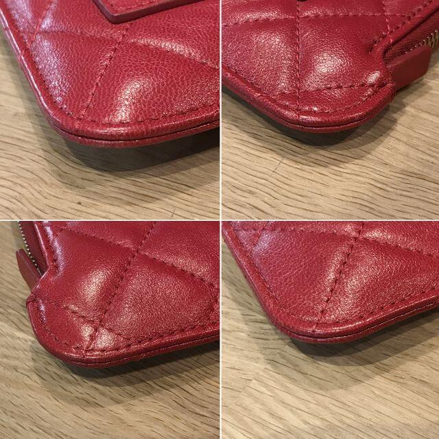 CHANEL(シャネル)の超美品 シャネル マトラッセ クラッチバッグ チェリーレッド セカンドバッグ レディースのバッグ(クラッチバッグ)の商品写真